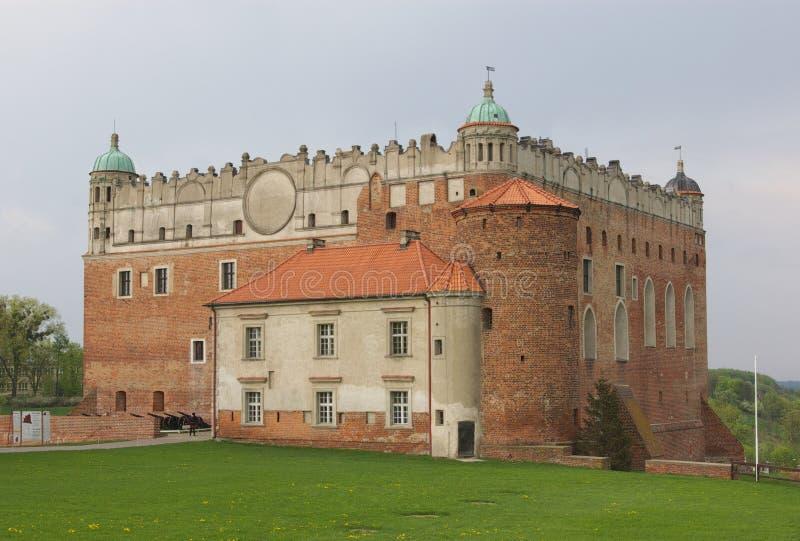 城堡dobrzyn golub 免版税图库摄影