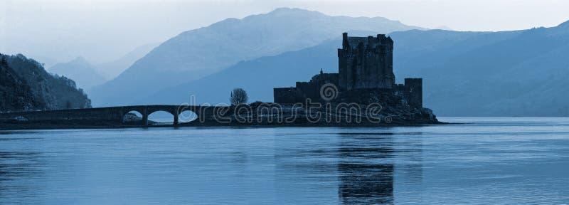 城堡donan eilan 免版税库存照片