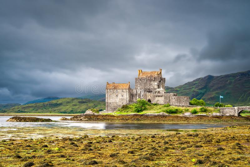城堡donan eilean苏格兰 免版税库存图片