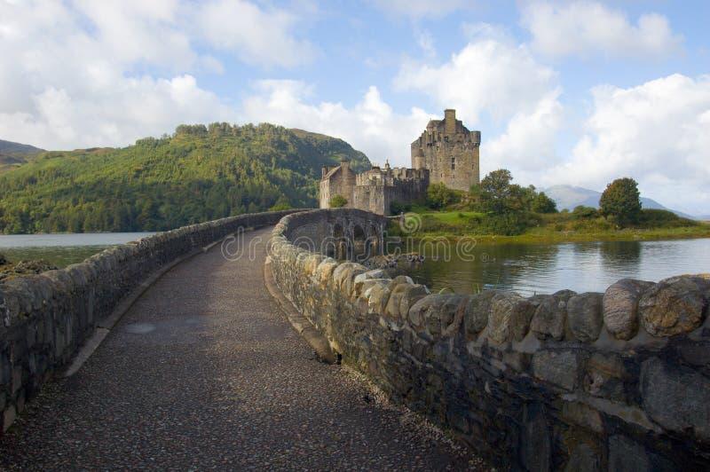 城堡donan eilean高地苏格兰 库存照片
