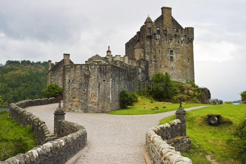 城堡donan eilean 库存照片