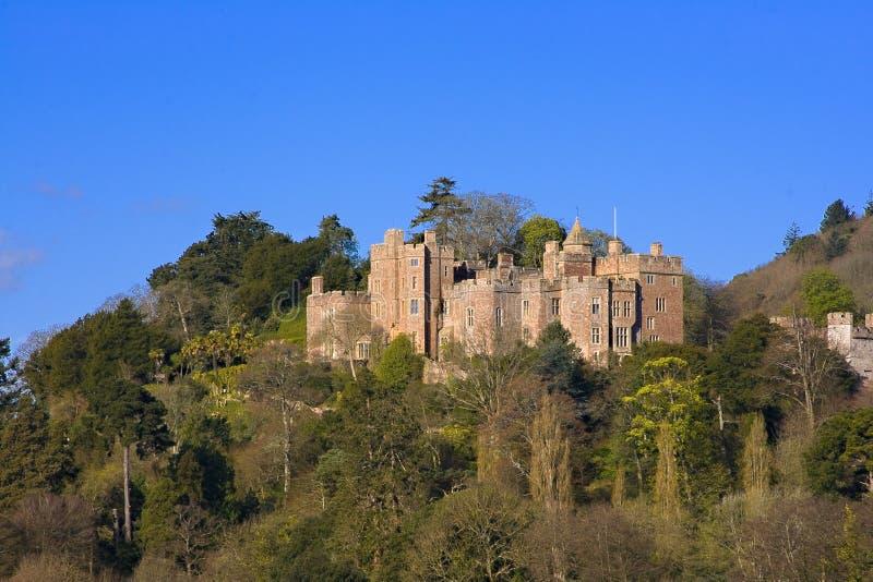 城堡dunster 库存图片