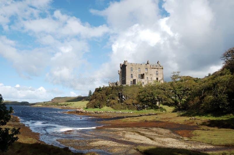 城堡dunvegan港口 库存照片
