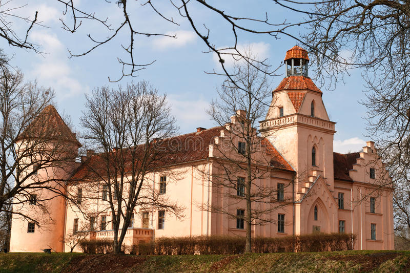 城堡edole拉脱维亚 免版税库存照片
