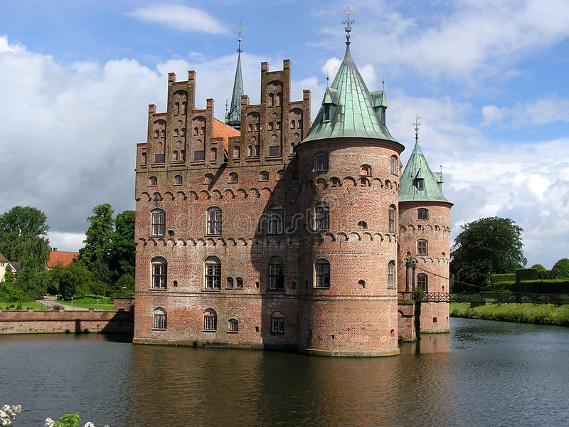 城堡egeskov 库存图片