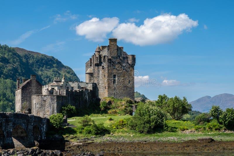 城堡Eilan Donan在苏格兰高地 库存照片