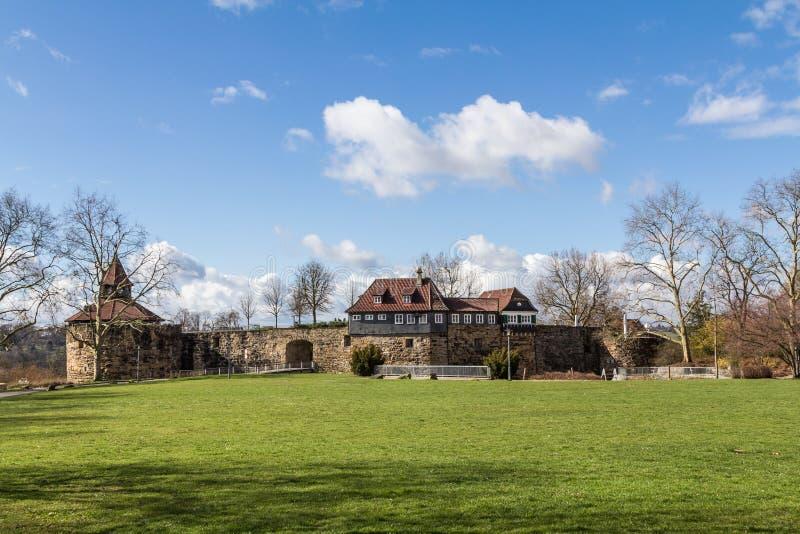 城堡Esslingen - Esslinger城镇 免版税库存图片