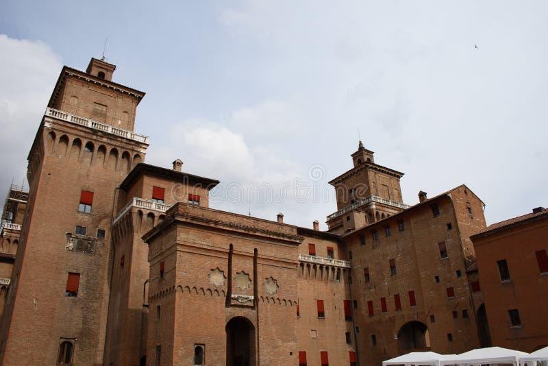 城堡estense费拉拉 库存图片