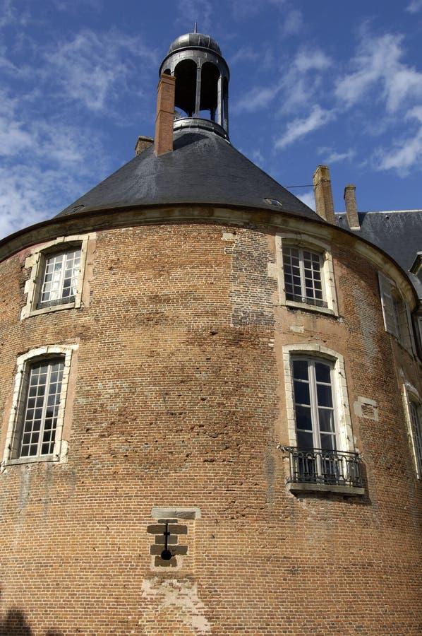 城堡fargeau法国圣徒 免版税库存图片