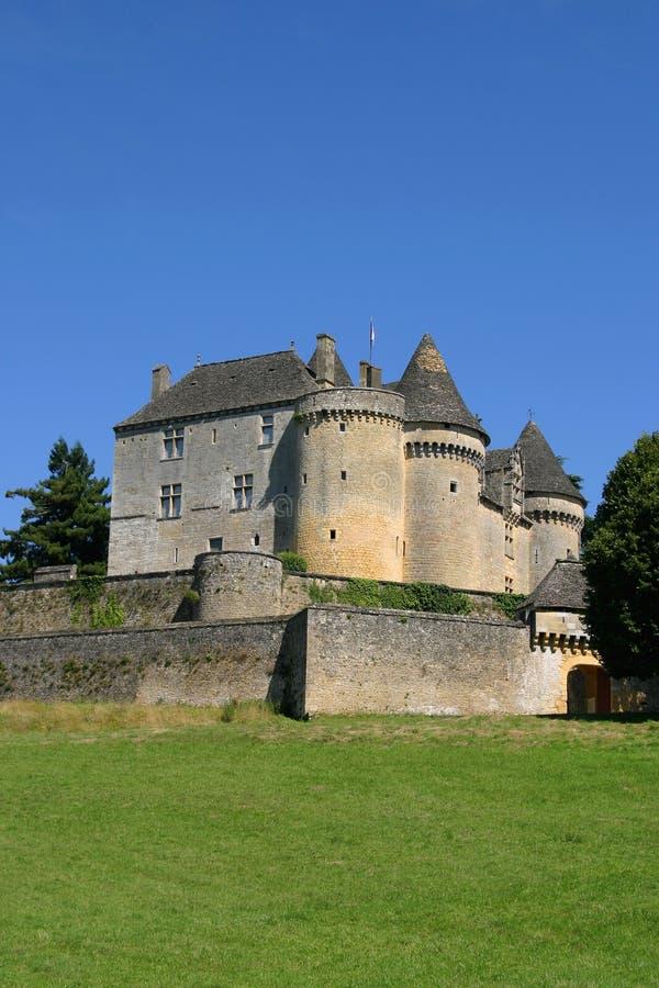 城堡fenelon法国perigord 库存照片