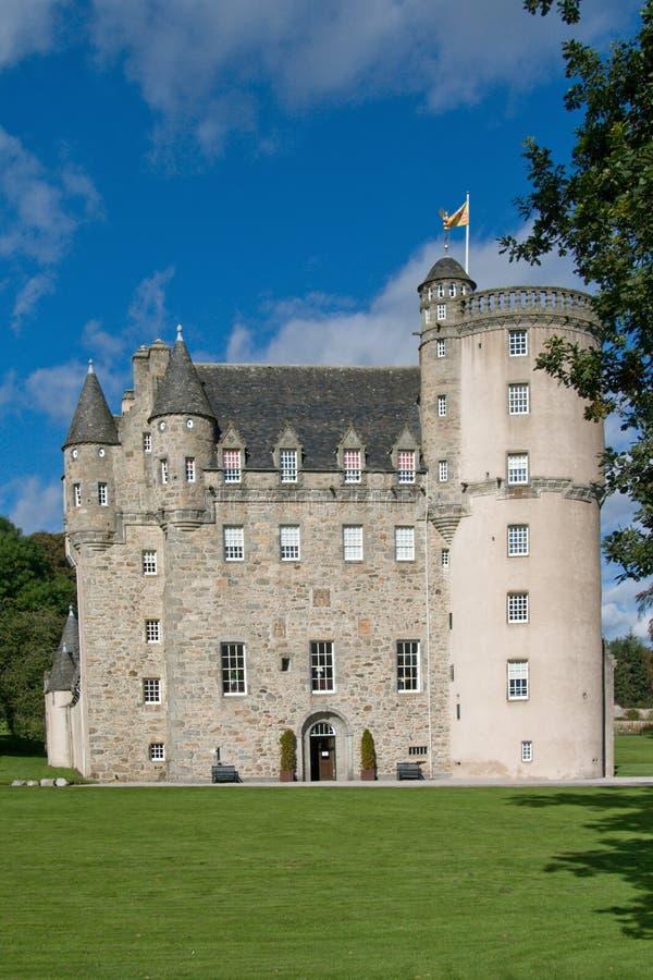 城堡fraser苏格兰 库存照片