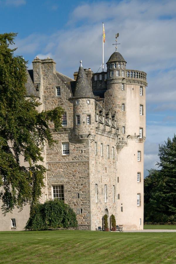 城堡fraser苏格兰 库存图片