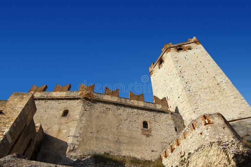 城堡garda意大利湖malcesine 免版税库存照片