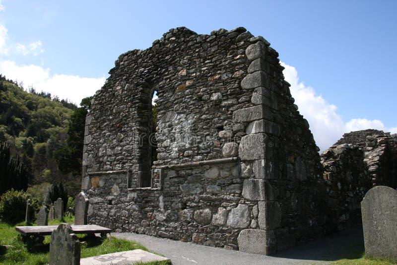 城堡glendalough kevins st 免版税库存照片
