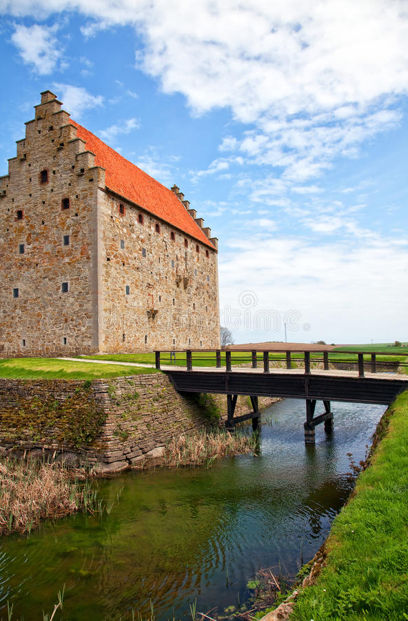 城堡glimmingehus 免版税图库摄影