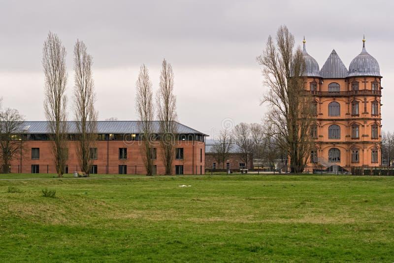 城堡Gottesaue在卡尔斯鲁厄 库存图片
