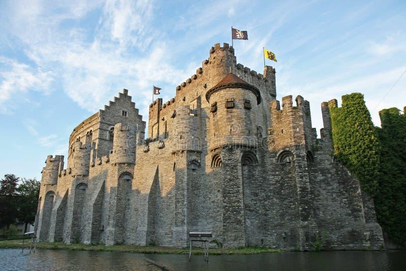 城堡gravensteen 库存照片