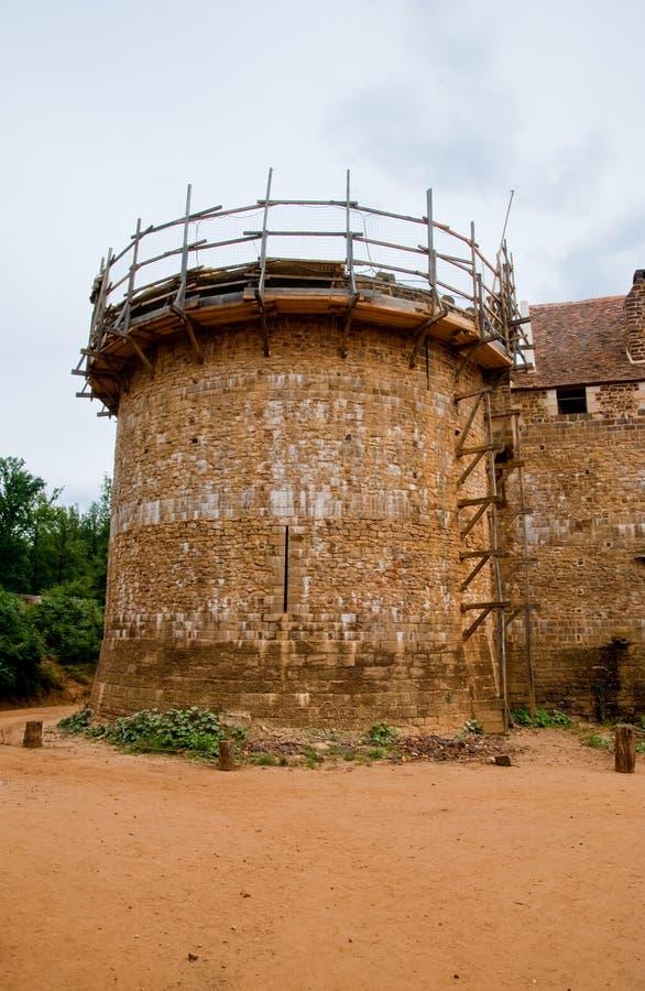城堡guedelon 库存图片
