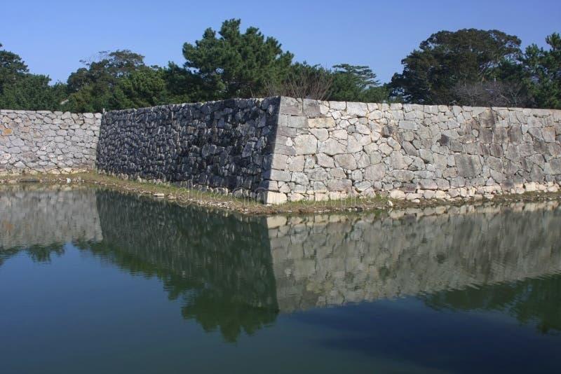 城堡hagi废墟 免版税库存照片