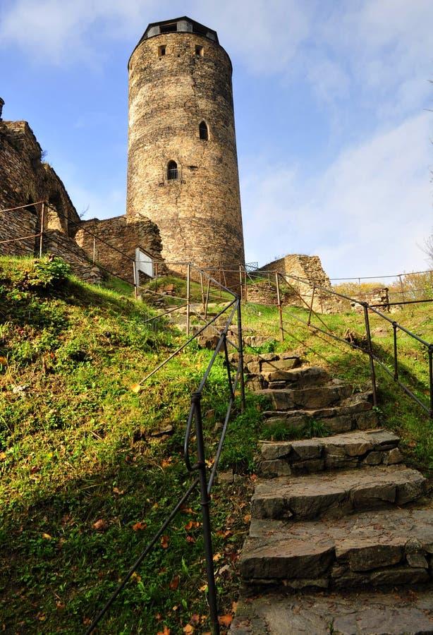 城堡Hasistejn 库存图片
