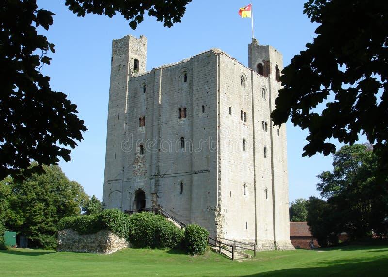 城堡hedingham 库存图片
