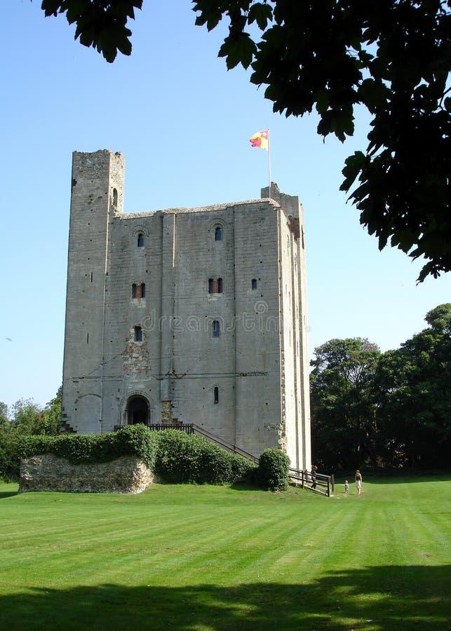 城堡hedingham 库存照片