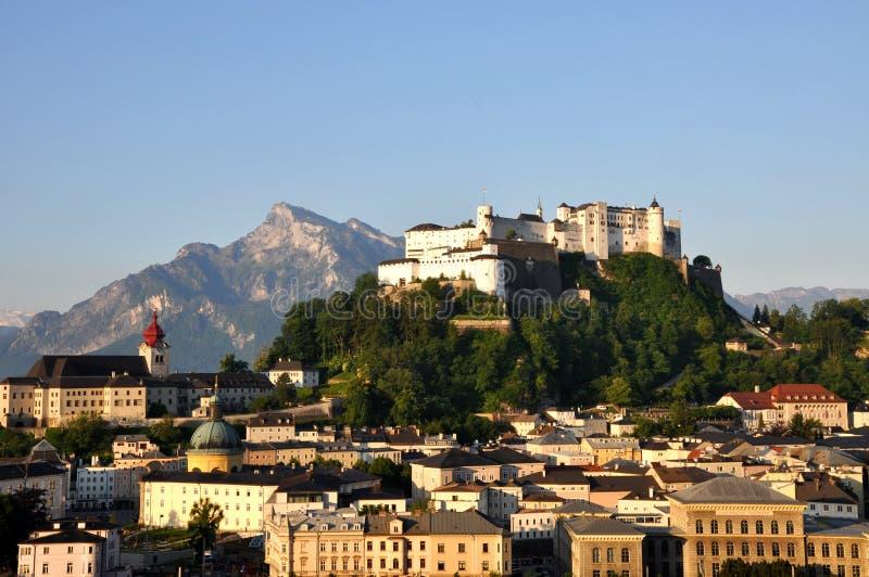城堡hohensalzburg 库存照片