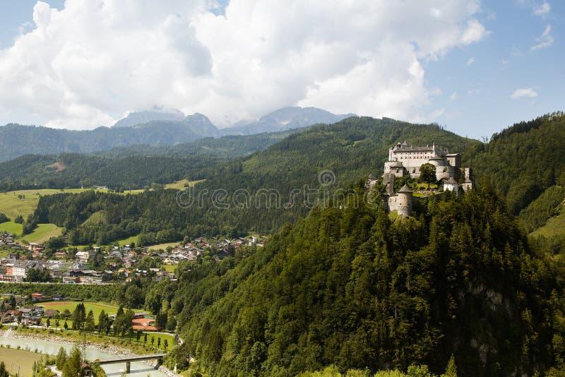 城堡Hohenwerfen 免版税库存图片