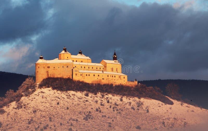 城堡horka krasna斯洛伐克 库存照片