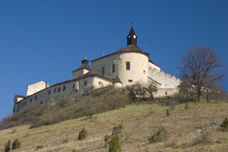 城堡horka krasna斯洛伐克 免版税库存照片