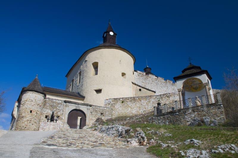 城堡horka krasna斯洛伐克 库存图片