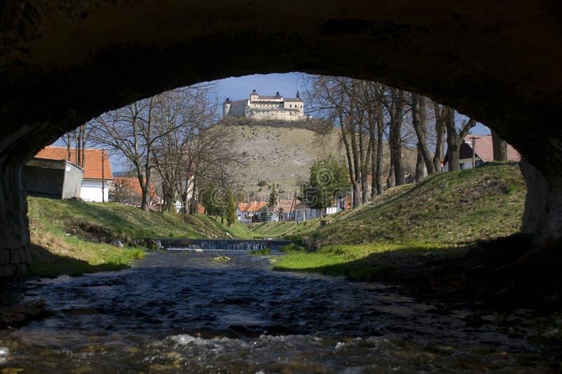 城堡horka krasna斯洛伐克 免版税库存图片