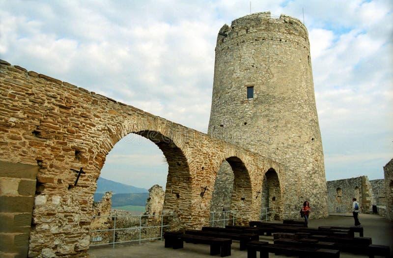 城堡hrad spi spisky塔 免版税库存照片