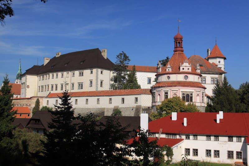 城堡hradec jindrichuv 库存照片