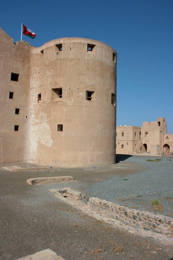 城堡jabrin阿曼 图库摄影