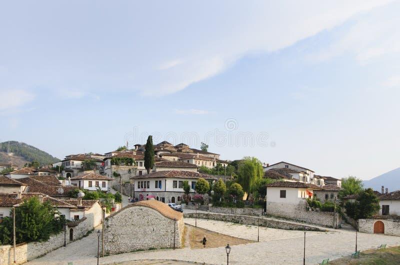 城堡kala berat阿尔巴尼亚欧洲 免版税库存图片