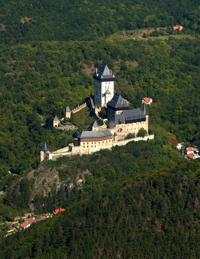 城堡karlstein 免版税库存照片