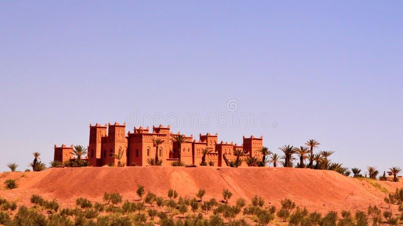 城堡kasbah摩洛哥 库存图片