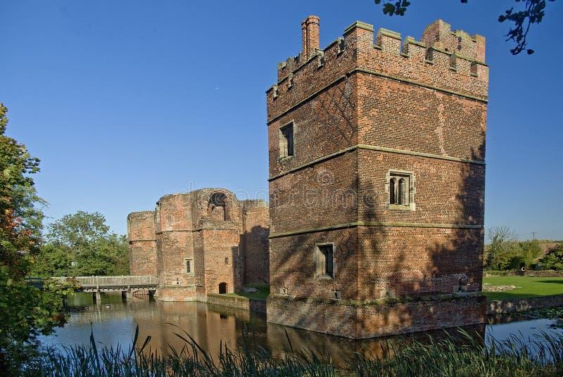城堡kirby muxloe 免版税库存图片