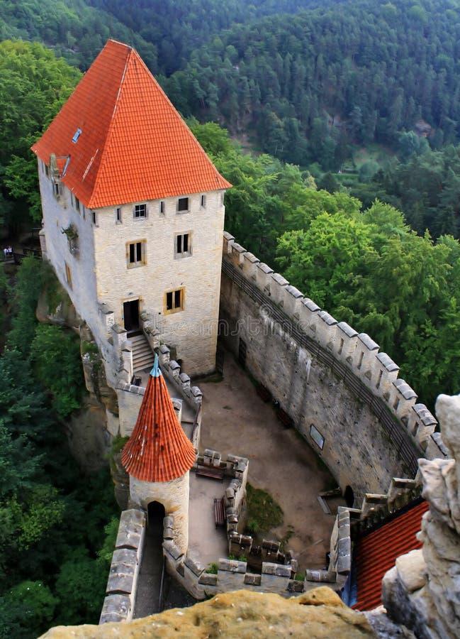 城堡kokorin 免版税库存图片