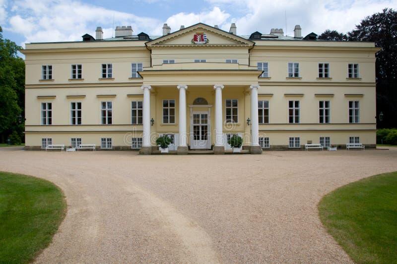 城堡Kostelec nad Orlici,捷克共和国 库存照片