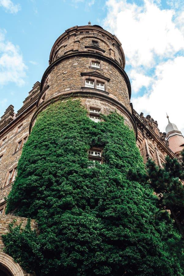 城堡ksiaz在Swiebodzice波兰 库存照片