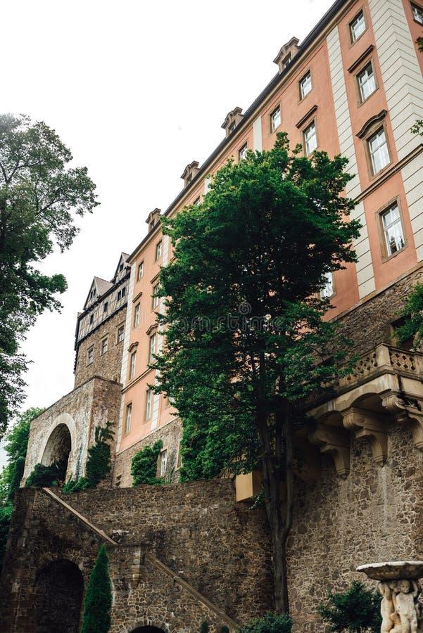 城堡ksiaz在Swiebodzice波兰 图库摄影