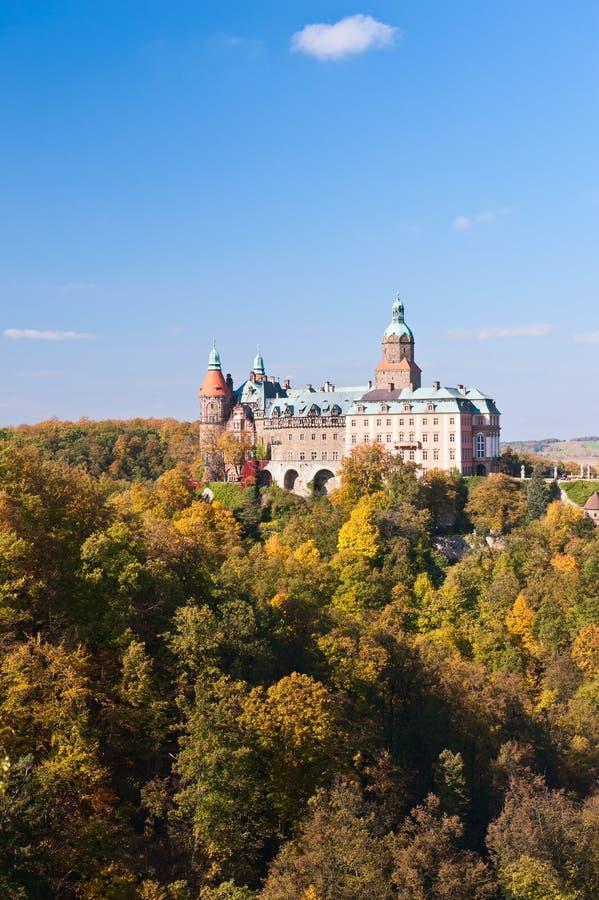 城堡Ksiaz 免版税库存照片