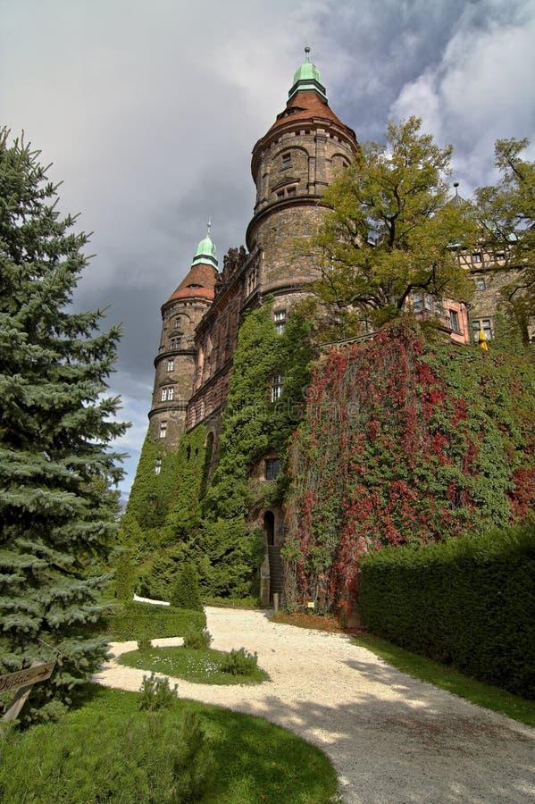 城堡ksiaz 库存照片