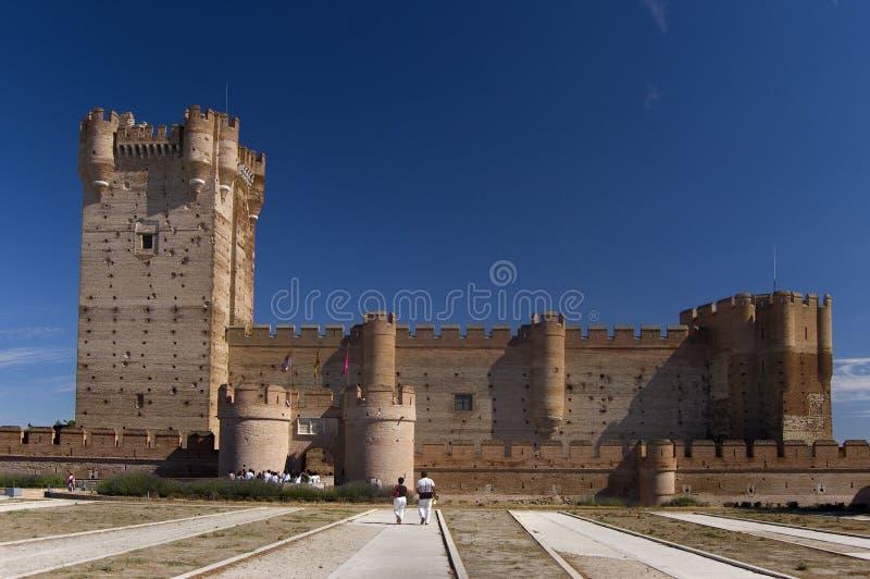 城堡la mota sp巴里阿多里德 免版税库存图片