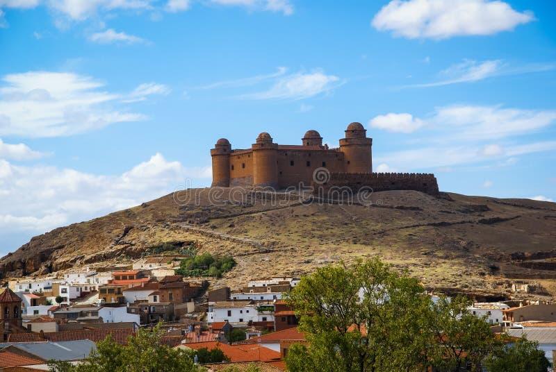 城堡Lacalaora,格拉纳达,安大路西亚,西班牙 库存图片