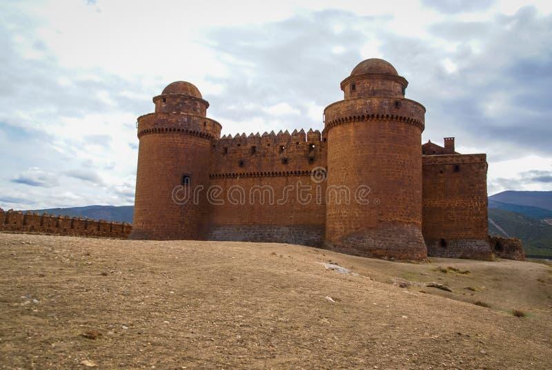 城堡Lacalaora,格拉纳达,安大路西亚,西班牙 库存照片
