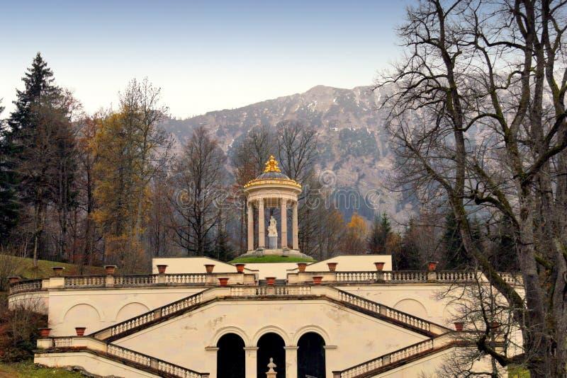 城堡linderhof 免版税图库摄影