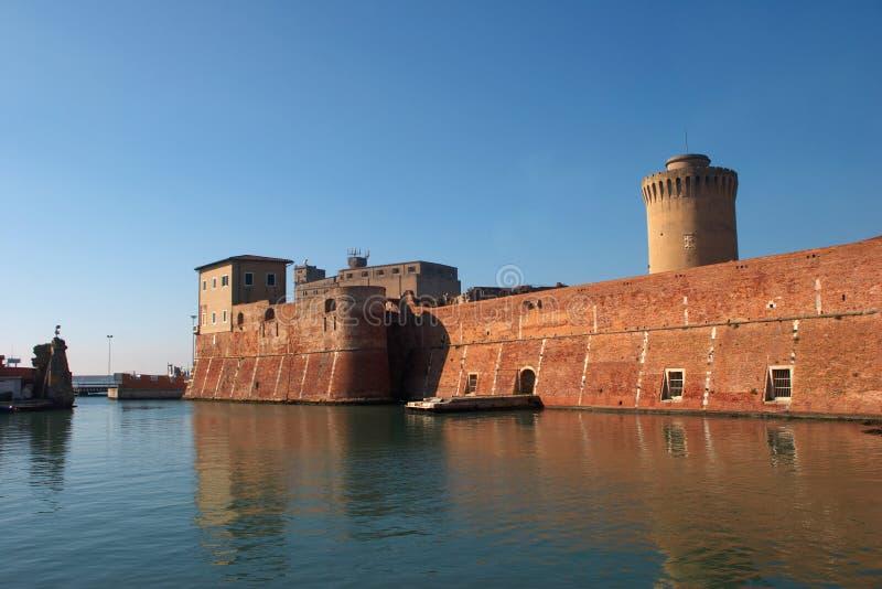 城堡livorno 免版税库存图片